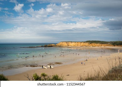The surfers beach at Torquay, Victoria on the south coast of Australia