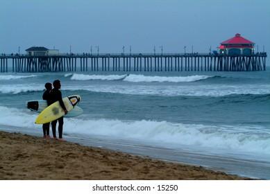 Surfers - Huntington Beach, California