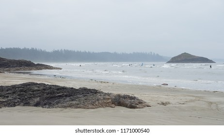 Surfers at Long Beach, British Columbia