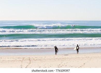 Surfers on the Gold Coast.