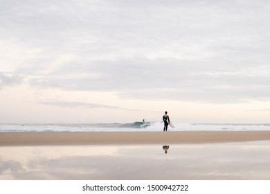 Surfers on the Gold Coast, Queensland, Australia.