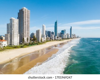 Surfers Paradise aerial view of the coastline on the Gold Coast one of Australia's best beach destinations