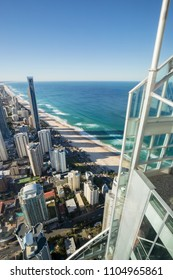 SURFERS PARADISE - APRIL 26: View of Surfers Paradise skyline and beachfront, one of the most popular holiday destinations in Australia. April 26, 2015 Surfers Paradise, Australia