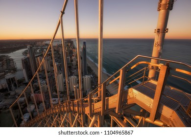 SURFERS PARADISE - APRIL 26:  View of Gold Coast city skyline, from top of Q1 building. April 26, 2015 Surfers Paradise, Australia