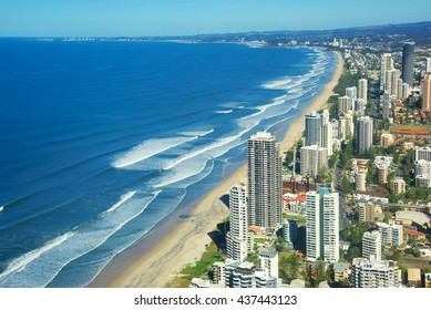Surfers Paradise, a city on Australia's Gold Coast, in Queensland