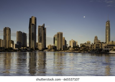 Surfers Paradise city skyline taken from Gold Coast arts centre