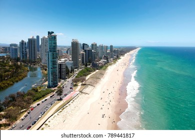 Surfers Paradise and Main Beach, Gold Coast.