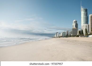 surfers paradise in morning light (gold coast, qld, australia)