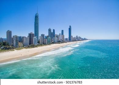 Surfers Paradise skyline aerial