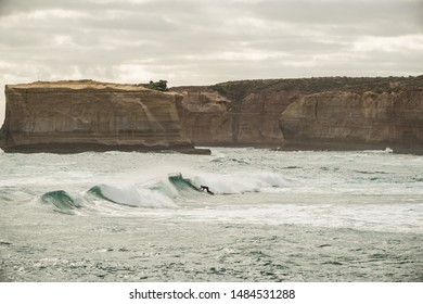 surfing at the Beach at Sherbrook River, Great Ocean Road, Victoria