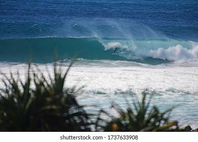 Surfing in Burleigh Heads, Gold Coast, Australia