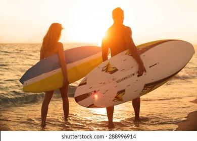 Surfing, California, Beach.