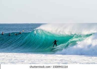Surfing on the Gold Coast, Australia.