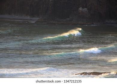 Surfing On The Northern Oregon Coast