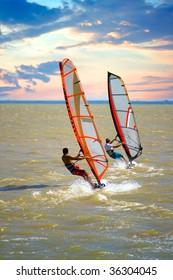 Surfing on sea of Azov