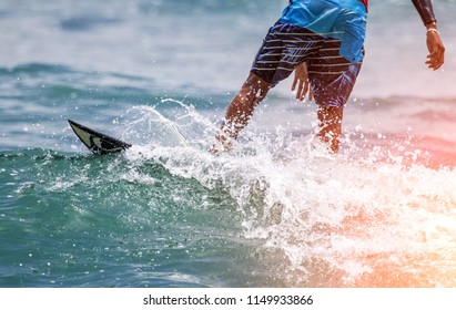Surfing surface water sport action