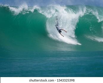 surfing wipeout big wave barrel martinique