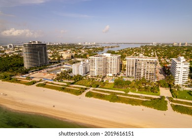 Surfside, FL USA - July 31, 2021: Site of former Champlain Towers South Condo Surfside cleared away after collapse