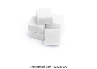 surgar cubes isolate on white background