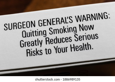 Surgeon General's Warning: Quitting Smoking Now Greatly Reduces Serious Risks to Your Health.