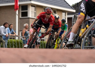 Surhuisterveen/The Netherlands - July 30th 2019: Nicolas Roche, professional cyclist of team Sunweb, is taking part in the criterium of Surhuisterveen