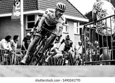 Surhuisterveen/The Netherlands - July 30th 2019: Daryl Impey, professional cyclist of the Mitchelton Scott team, is taking part in the criterium of Surhuisterveen