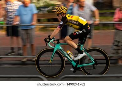Surhuisterveen/The Netherlands - July 30th 2019: Steven Kruijswijk, professional cyclist of the Jumbo Visma team, is taking part in the criterium of Surhuisterveen