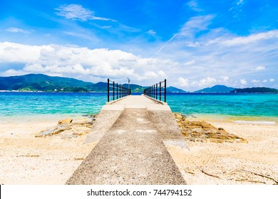 The Suri beach and Pier.I shot in Suri Beach, Kakeroma Island, Kagoshima Prefecture, Japan.