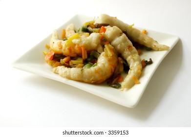Surimi on cinese plate