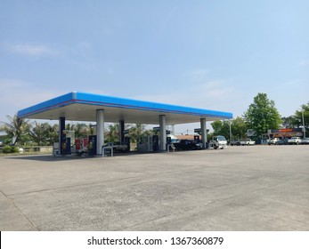 Surin, Thailand-April 10, 2019 : PTT Gas Station Which is the most famous oil company in Thailand