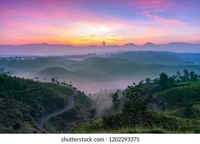 Surnrise at Cukul, Pangalengan, West Java, Indonesia.
