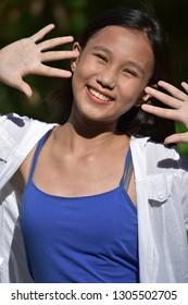 Surprised Beautiful Minority Girl Youth