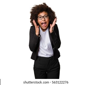 surprised business black woman