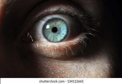 Surprised eye
