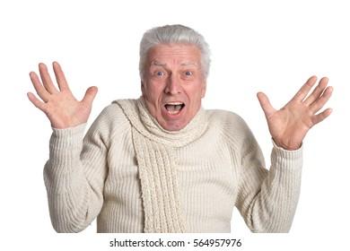 surprised mature man