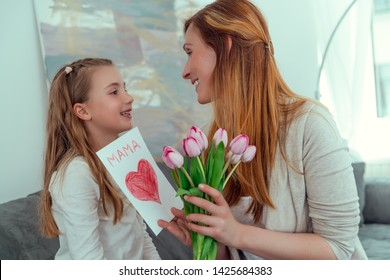 surprising mom with love message on mother´s day