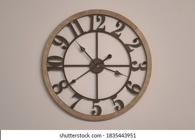 Surreal clock with wrong numbers. Concept of confused and uncertain times.
