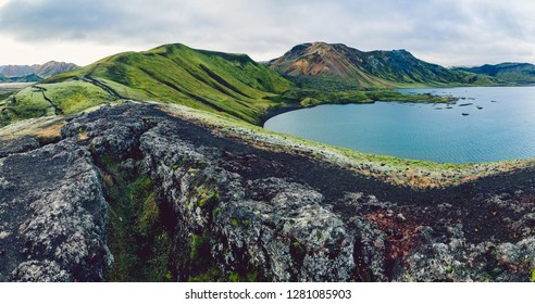 Surreal and colorful landscape of Iceland