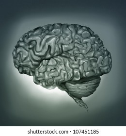 surreal digital painting of a human brain