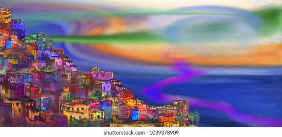 Surreal Naples sunrise