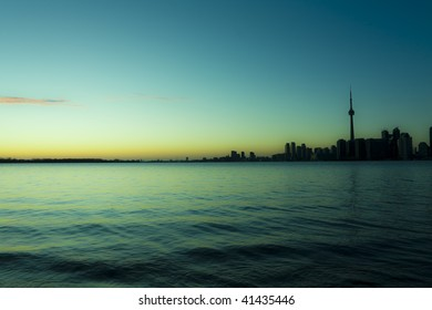 Surreal rendition of a toronto skyline