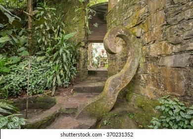 "Surreal Stone Spiral Structure of Las Pozas ""The Pools"" Fairytale Jungle Castle in Xilitla, San Luis Potosí Region, Mexico"