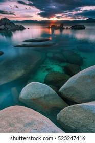Surreal Sunset at Lake Tahoe