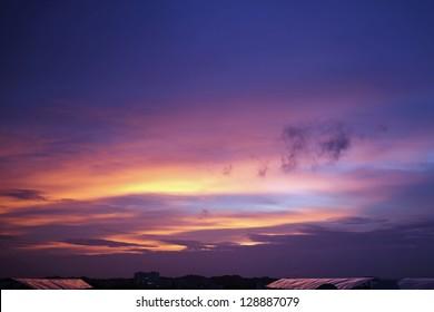 Surreal Sunset Sky, India