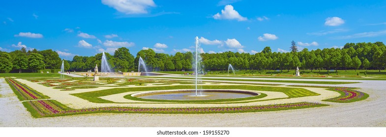 "A surreal view of the historic park in ""Schleissheim"" near Munich in Bavaria"