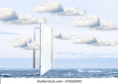Surrealistic door open on the ocean  door to freedom or to heaven  sc 1 st  Shutterstock & Magritte Images Stock Photos \u0026 Vectors | Shutterstock