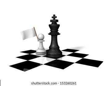 Surrender chess piece