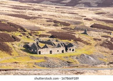 Surrender Smelt mill ruins in Swaledale