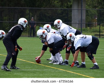 SURREY, BRITISH COLUMBIA / CANADA - 07 SEPTEMBER : B.C. Lions Football team of British Columbia Vancouver on the practise on 07 september, 2010 at their training facility in Surrey B.C. Canada.