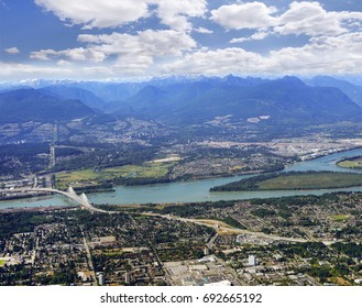 Surrey, Coquitlam, Port Coquitlam and Fraser River, British Ciolumbia, Canada